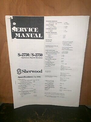 Sherwood S-2730/2750 Digital Receiver Service Manual Schematics