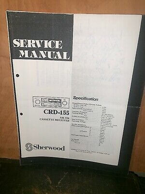 Sherwood CRD-155 Cassette Deck Service Manual Schematics