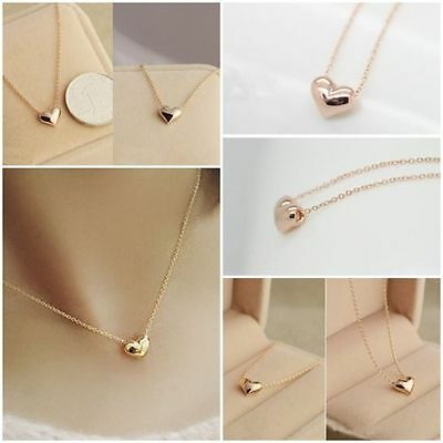 8 x Gold Love Heart Necklaces Wholesale Joblot Car Boot Quality Jewellery AA