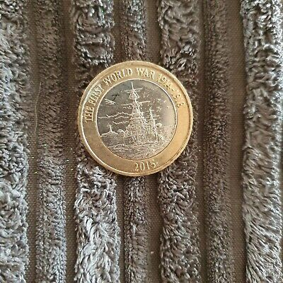 The First World War Centenary Royal Navy £2 Coin 2015 Two Pound Circulated