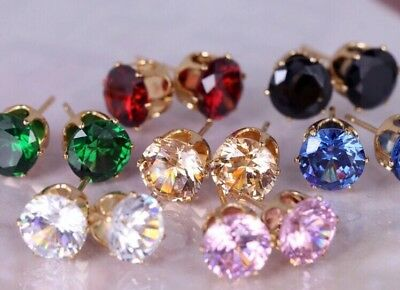 10 x Pairs Of Mixed Colour Earrings Wholesale Joblot Car Boot Jewellery CC