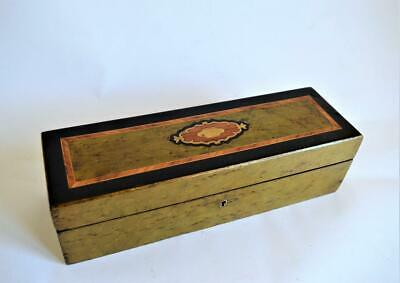 FINE ANTIQUE FRENCH NAPOLEON III INLAID BURR WOOD GLOVES JEWELLERY BOX c.1870s