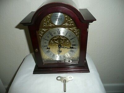 Tempus Fugit, Westminster Chimes Mantle Clock, Hermle 340 020 Movement. Working.