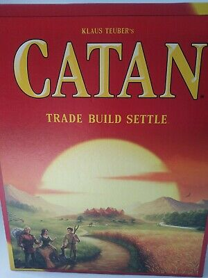 SETTLERS OF CATAN Board Game cn3701 Edition COMPLETE Used Once