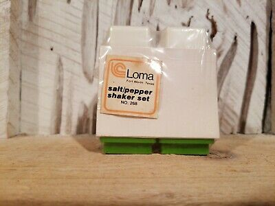 NOS Vtg Mid Century Loma Ind. Plastic Salt and Pepper Shakers