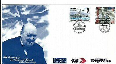 1995 Jersey and Guernsey 50th Anniversary of Liberation First Day Cover