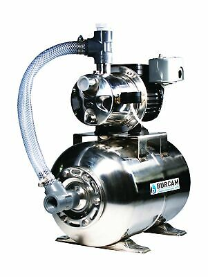 BurCam 506547SS 3/4 HP Stainless Steel Shallow Well Jet Pump System 1 In NPT New