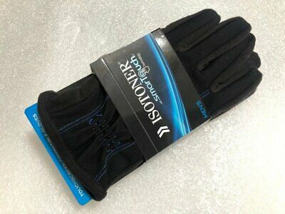 ISOTONER SmarTouch Touchscreen Compatible Gloves 700M1 Black Blue M or L NEW nwt