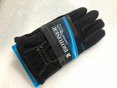 ISOTONER SmarTouch Touchscreen Compatible Gloves 700M1 Black Yellow L NEW nwt
