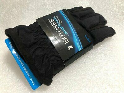 ISOTONER SmarTouch Touchscreen Compatible Gloves Matrix Black M or L A719M1 NEW