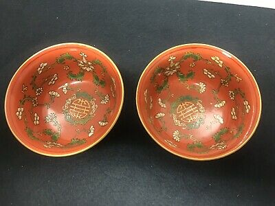 A pair of antique chinese bowls