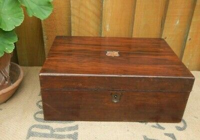 Antique 19Th C. Rosewood Writing Slope Box For Restoration~Repair Project