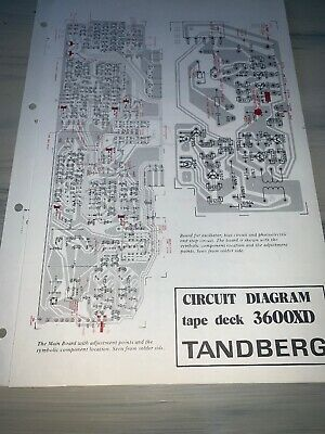 Tandberg 3600XD Tape Deck Circuit Diagram
