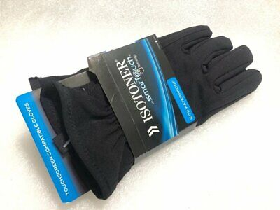 ISOTONER WATERPROFF SmarTouch Touchscreen Compatible Gloves A710M1 Black M L NEW