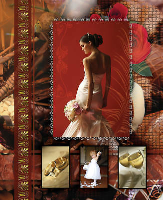 Vol 3 ELEGANT WEDDING PHOTO ALBUM PSD TEMPLATES Photoshop V.3 *