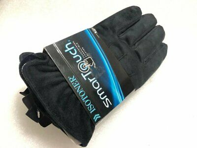 ISOTONER SmarTouch Touchscreen Ultra Plush Microfiber Gloves A608M1 Black L NEW