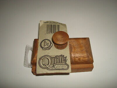 """vintage 4"""" wood quilt hanger clip clamp made in USA"""