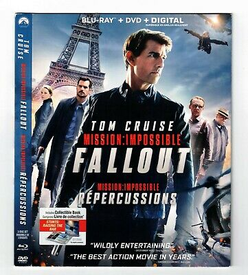 Mission Impossible Fallout Blu-ray Canadian Bilingual SLIPCOVER ONLY