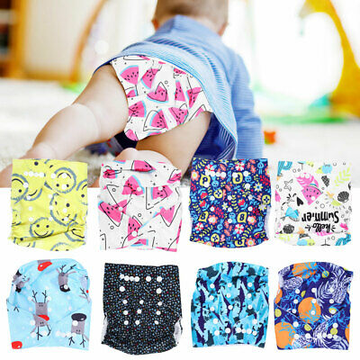 Waterproof Washable Reusable Baby Cloth Diapers Adjustable Pocket Nappies