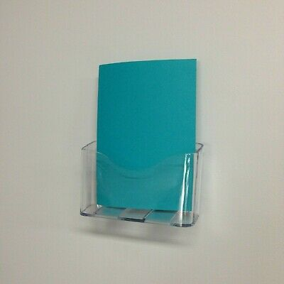 Wall Mounted Plastic A4 Brochure Holder Display Modular Mount free standing