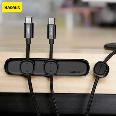 Baseus Magnetic Cable Organizer Desktop Wire Holder Management Winder Clips Cord