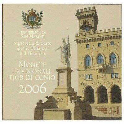 2006 San Marino Divisional Coins FDC in Pack MF28614