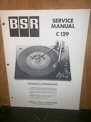 BSR Turntable record player C129 Service Manual Schematics.