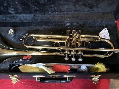 Excellent Brasswind Model II Brass Band Trumpet Complete With Case Never Used