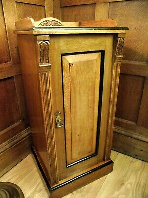 Antique Cabinet Cupboard - Circa 1900- Makers Stamp on Rear - Pier Cabinet