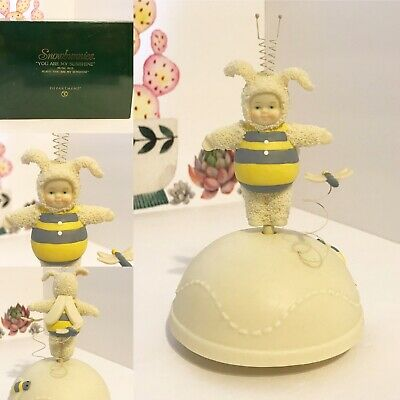 Dept 56 Snowbunnies Bumble Bee Revolving Music Box You Are My Sunshine.