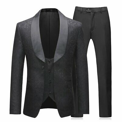 Mens Suits Tuxedos Groomsmen Wedding Jacket Vest Pants Prom Formal Tuxedo Floral