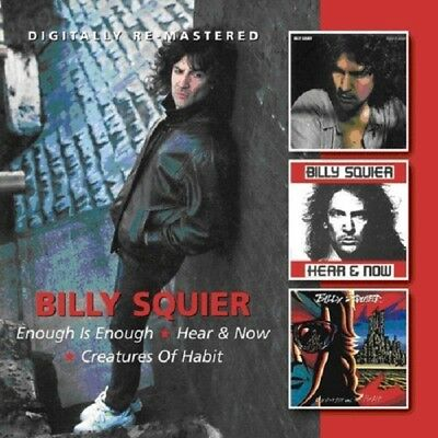 Billy Squier Enough Is Enough/Hear & Now/Creatures Of Habit 2-CD NEW SEALED