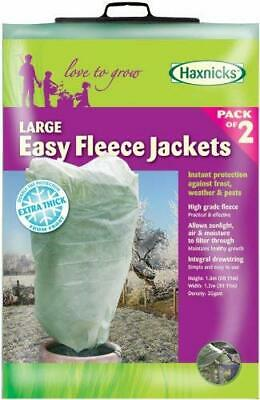 Large Plant Fleece Jacket Garden Lawn Flowers Covers Protection Pack Of 2 Tran..