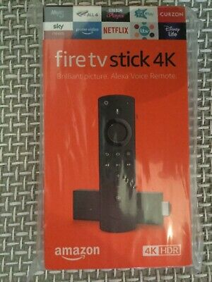 Amazon 4K Ultra HD HDR Fire TV Stick Alexa Voice Remote BRAND NEW SEALED UK
