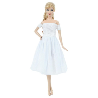 Handmade Wedding Dress Princess Evening Party Skirt Clothes For Barbie Doll toy