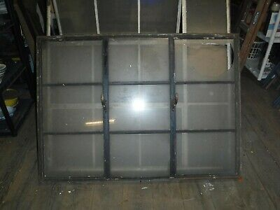 Architectural Salvage Steel Window Residential Industrial Factory 9 Lite