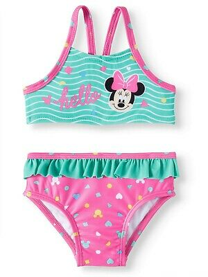 Minnie Mouse Toddler 2 Piece Girls Swimsuit Bikini - New w/Tags & Free Shipping!