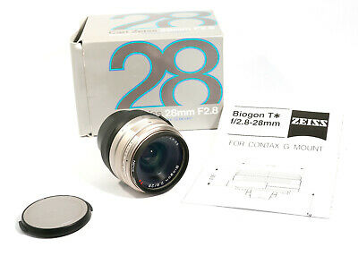 Carl Zeiss Biogon T 28mm f2.8 Lens, Contax G mount, Original Box, Hardly Used