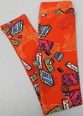 LuLaRoe Kids L/XL Leggings Halloween Candy Corn Orange Girls Large / XL NWOT