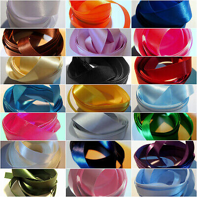 5 metres of 15mm wide Double Sided Satin Ribbon (pre cut)