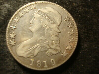 1819/8 VF Capped Bust Half Dollar Large 9/8  Large Date