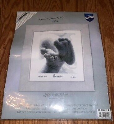 Vervaco Counted Cross Stitch Baby Feet Kit