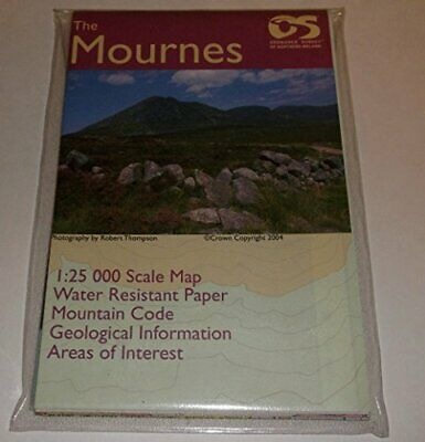 The Mournes (1:25000) by Ordnance Survey of Northern Ireland Sheet map, folded