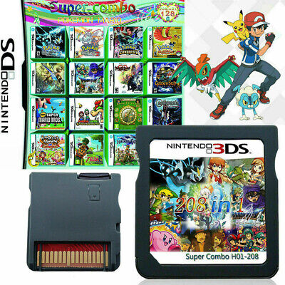 US 208 IN1 Multicart Video Game Nintendo Cartridge Game Card For NDS DSL DSI 3DS