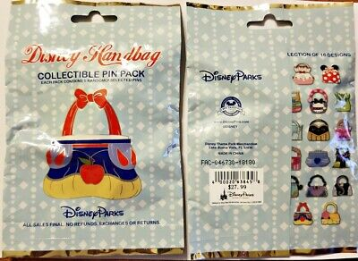 Collectible Pin Pack DISNEY HANDBAG Mystery Bag of 5 Pins Sealed NEW