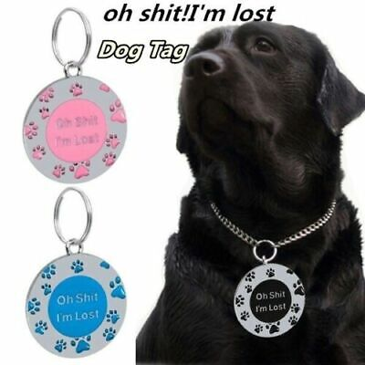 FREE Personalised ENGRAVING Dog ID / Cat ID Name Bling Tag Puppy Pet ID Tags UK