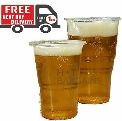 500 Clear 1//2 Half Pint 11oz Strong Plastic Beer Cups Glass Disposable Flexible
