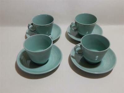 Woods ware Beryl Green Espresso  4 x cups and saucers