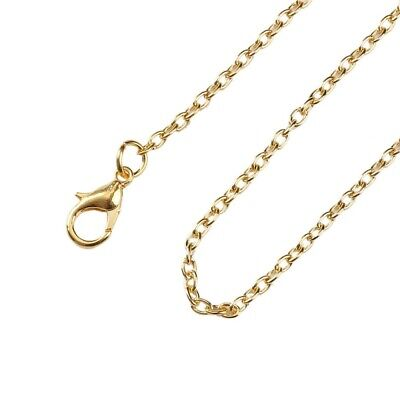 12PCS Gold Link Necklace Chains With Lobster Clasps Jewelry Findings 46/62/76cm