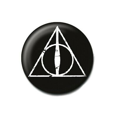 Genuine Warner Bros Harry Potter Glasses and Quill Silhouette Button Badge Pin